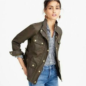 J. Crew Olive Green Downtown Field Utility Jacket for sale